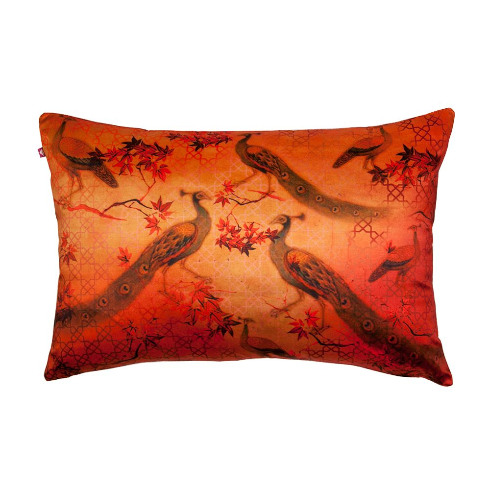 Peacock Pride Poly Taf-Silk Cushion Cover