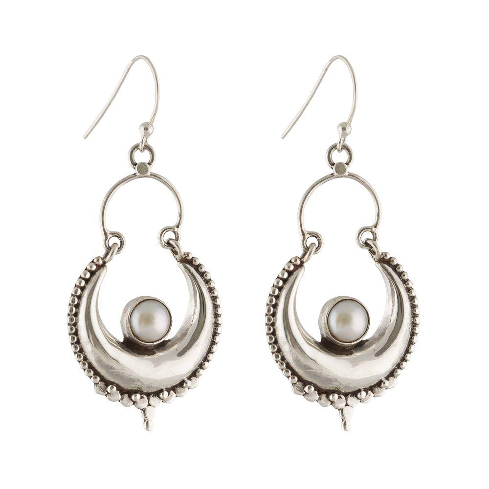 Pearl silver Earring