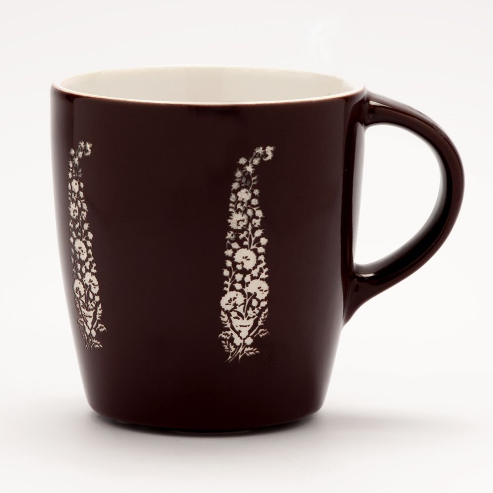 Perfect Paisley Brown Engraved Mug