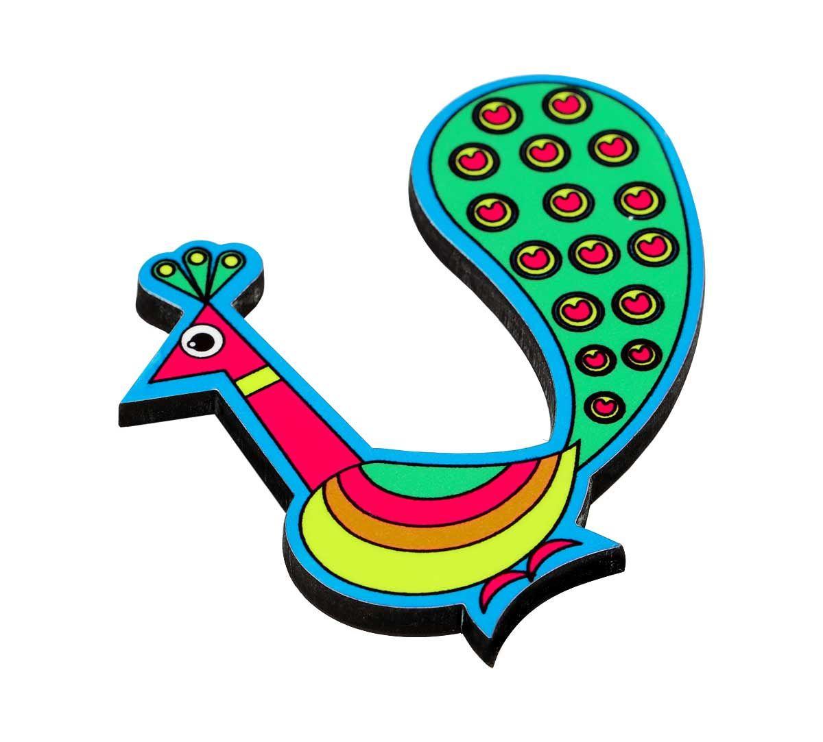 Perky Peafowl MDF Fridge Magnet