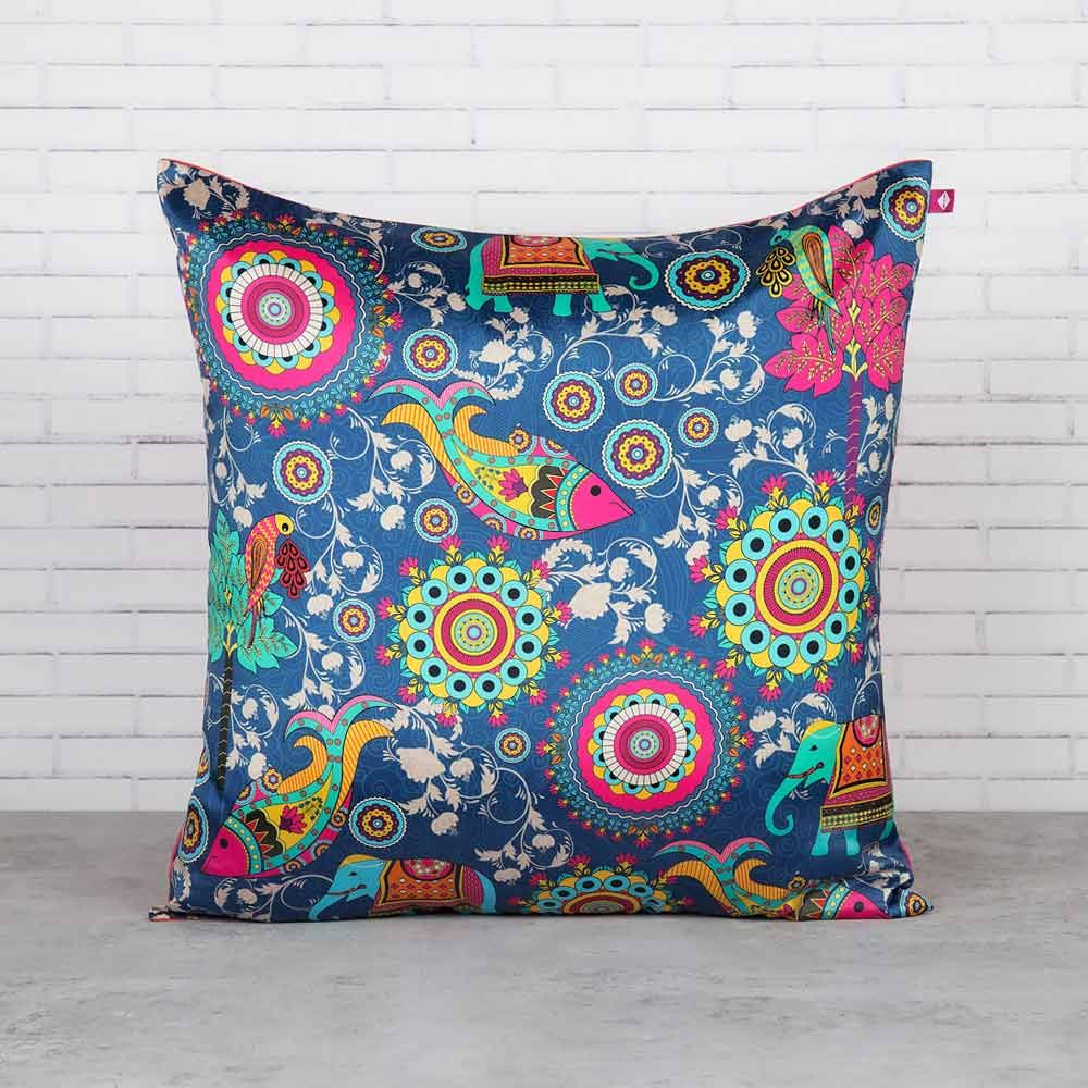 Psychedelic Fantasy Blended Taf Silk Cushion Cover