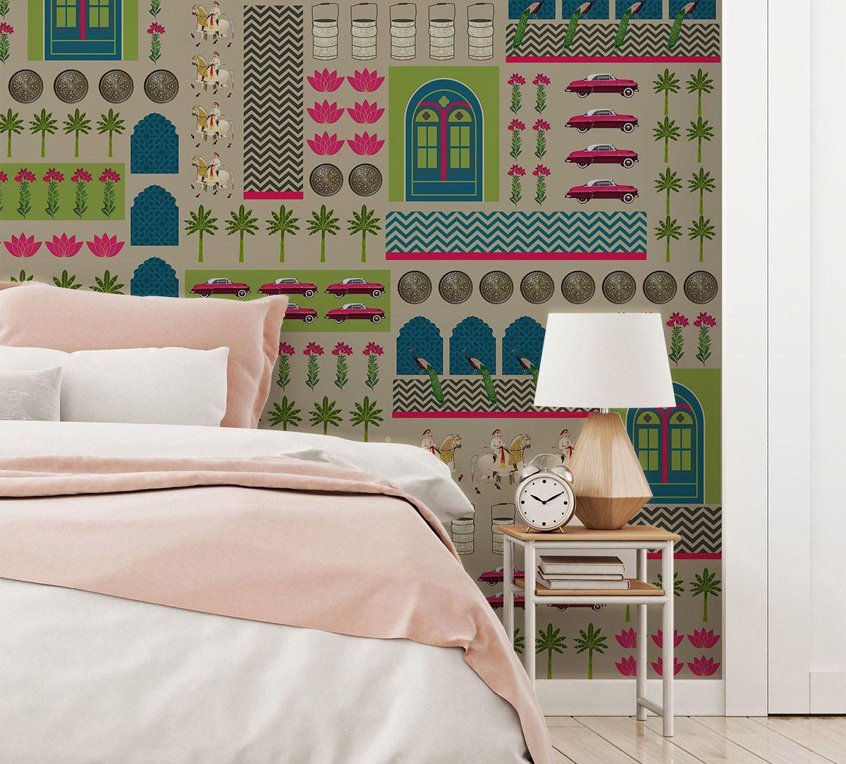 Royal Boudoir Blue Wallpaper