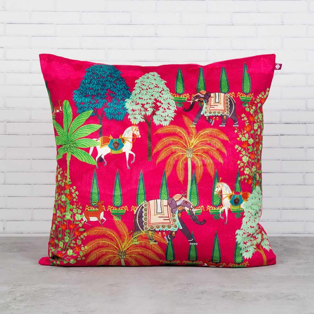 Royal High Garden Blended Velvet Cushion Cover