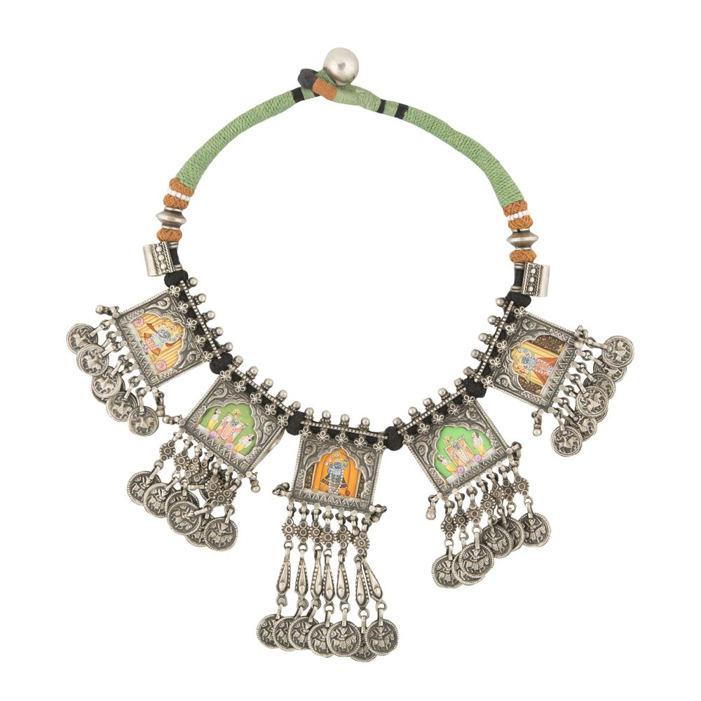 Shrinathji Chunky Silver Necklace