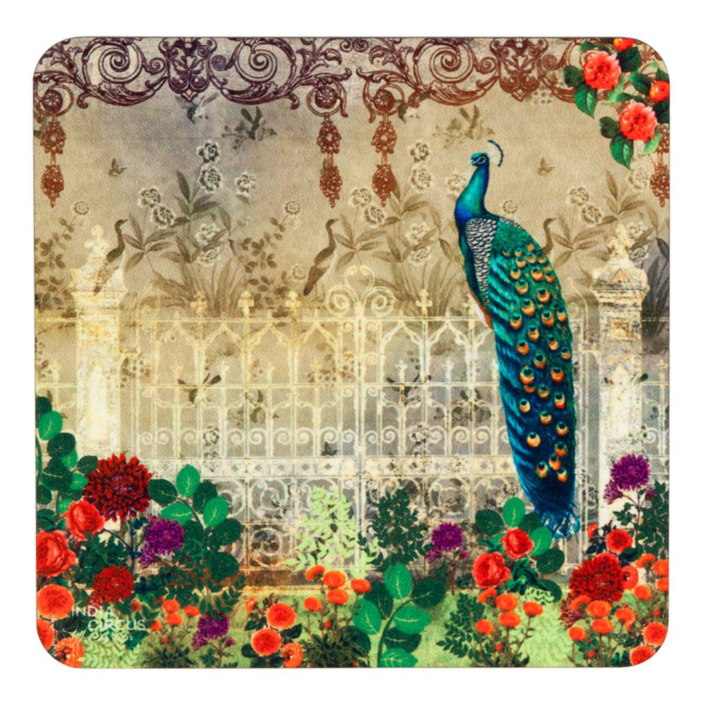 Song of the Peacock MDF Coaster - (Set of 6)