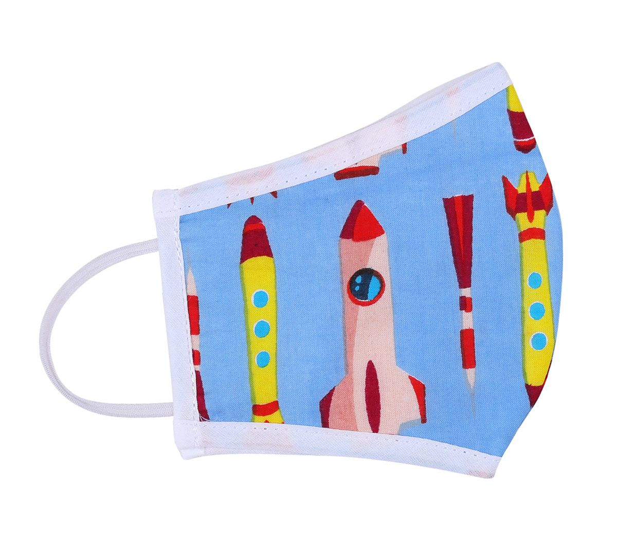 India Circus Space Printn Kids Protective Face Mask