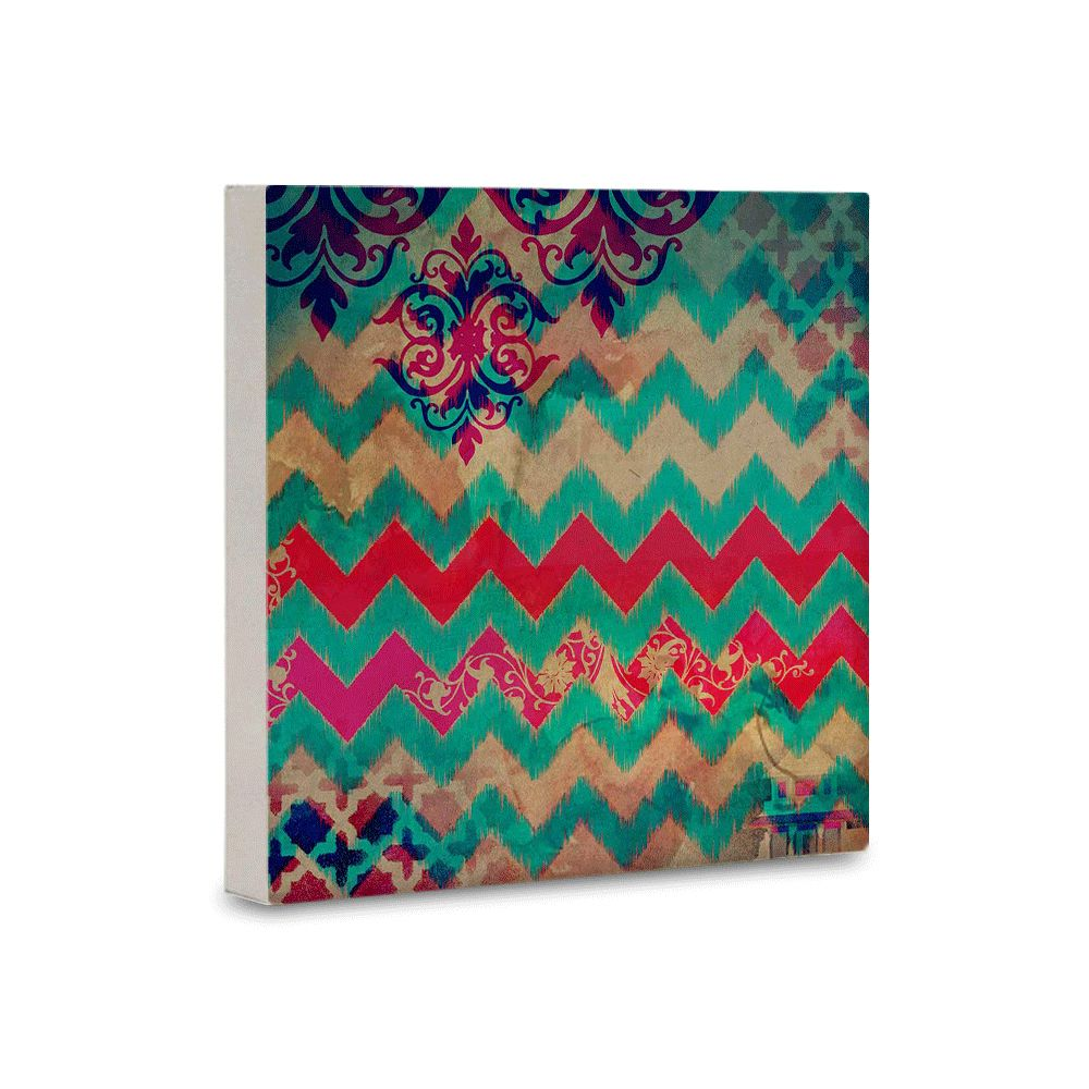 Colorful Streamer Canvas Mounted Wall Art