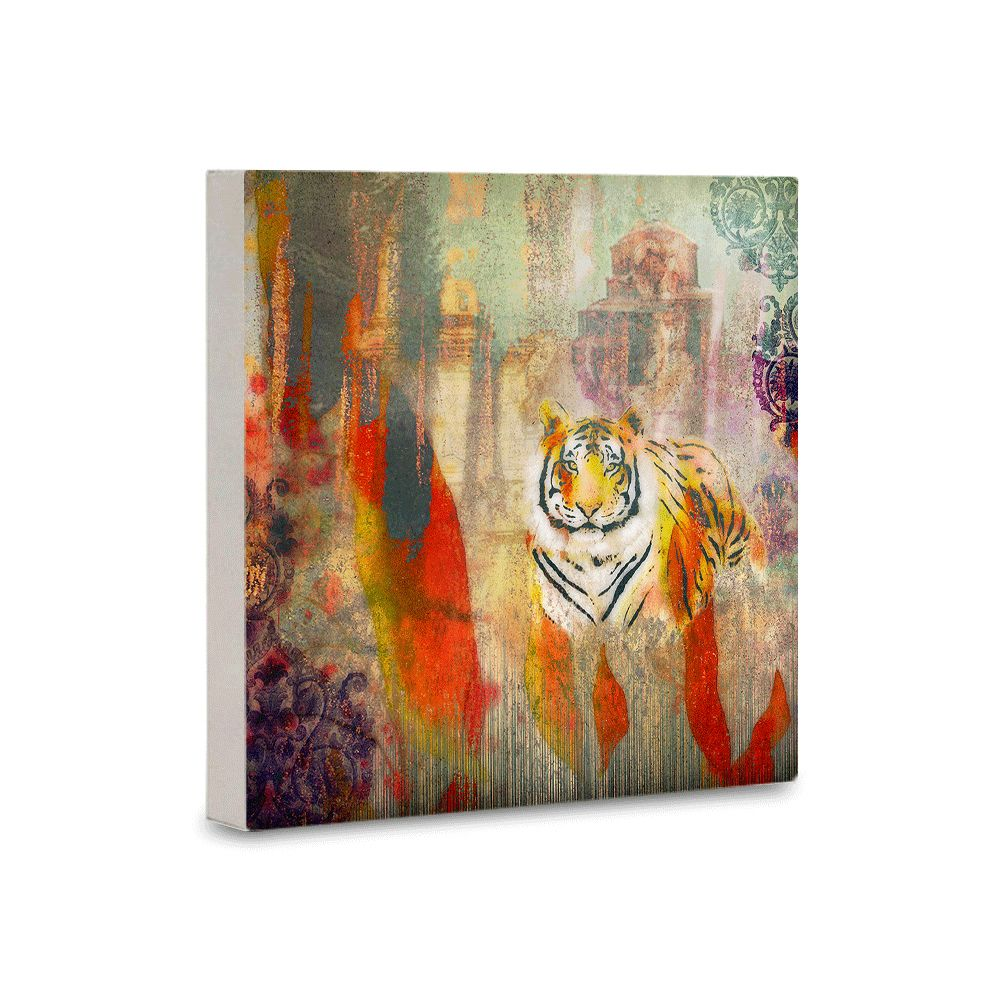 Tiger Shadow Canvas Mounted Wall Art