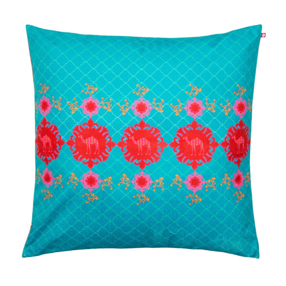 Steps of IMANI Poly Velvet Floor Cushion Cover