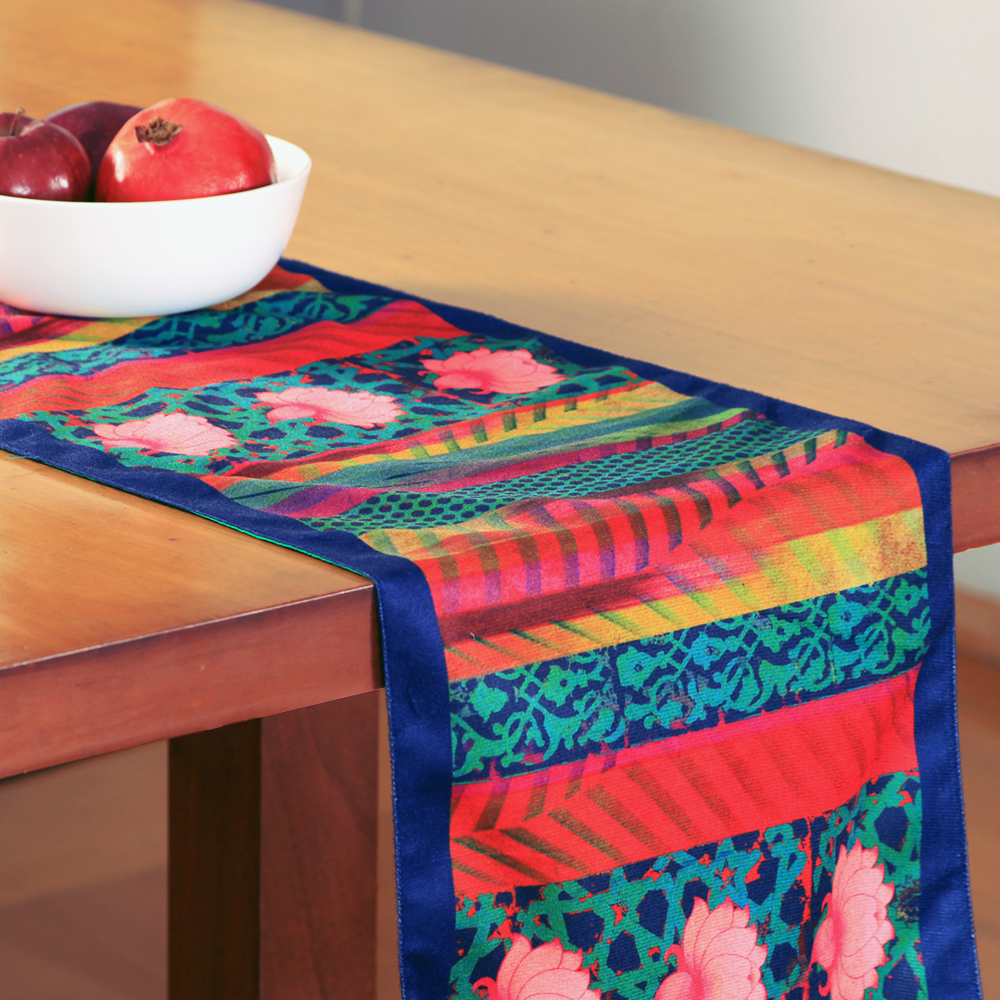 Flower Quill Table Runner