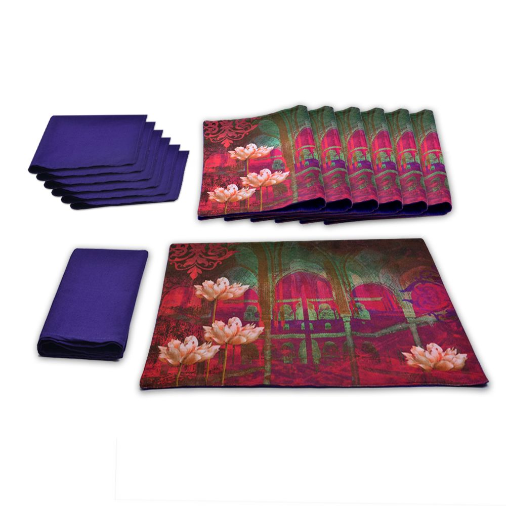 Tamara Blissful Lotus Table Mat & Napkin