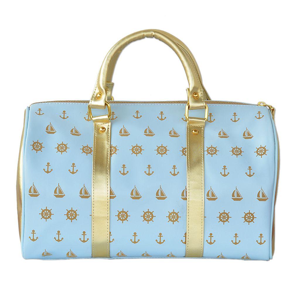 Tamara Blue Gold Burst Handbag