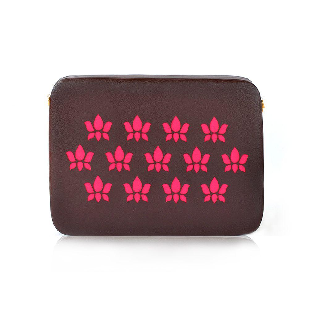 Tamara Mahogany Pink Lotus Clutch