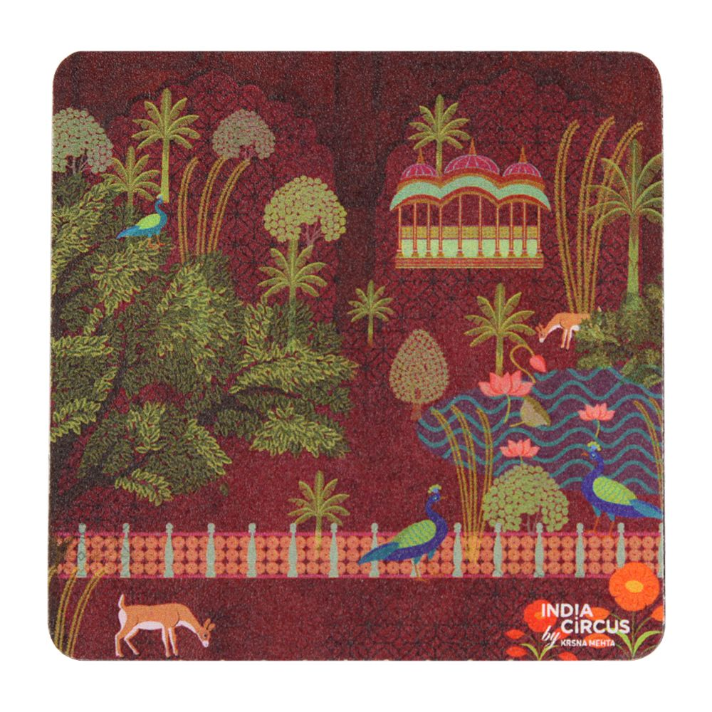 Tamara Peacock's Palace Rubber Coasters
