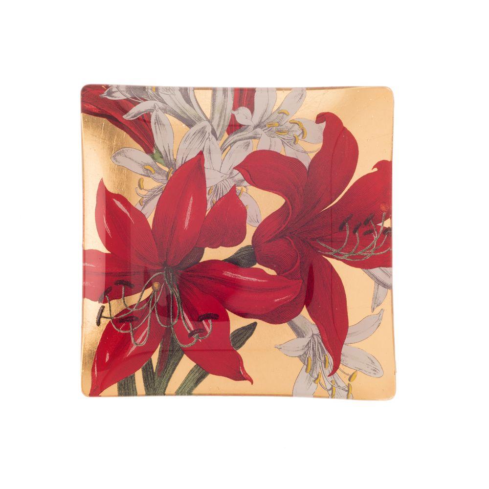 Tamara Scarlett Lilies Decorative Platter