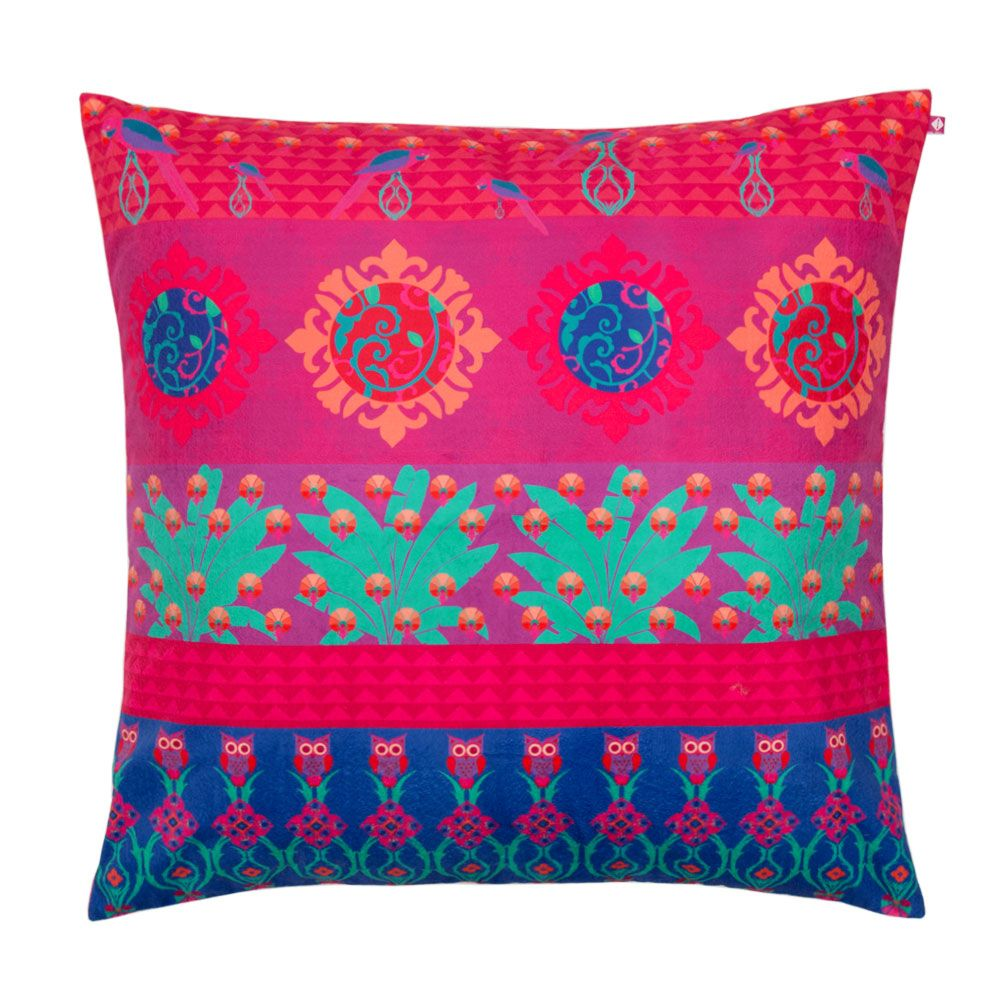 Tropical Wonderland Poly Velvet Floor Cushion Cover