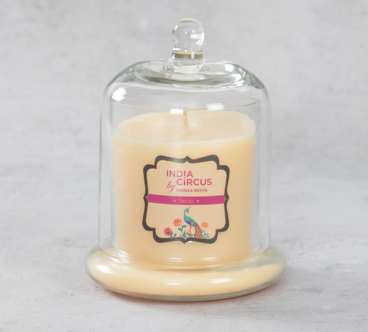 India Circus Vanilla Bean Glass Jar Scented Candle