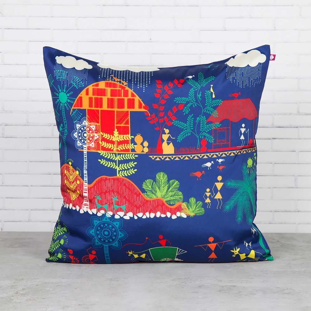 Village Reverie Blended Taf Silk Cushion Cover