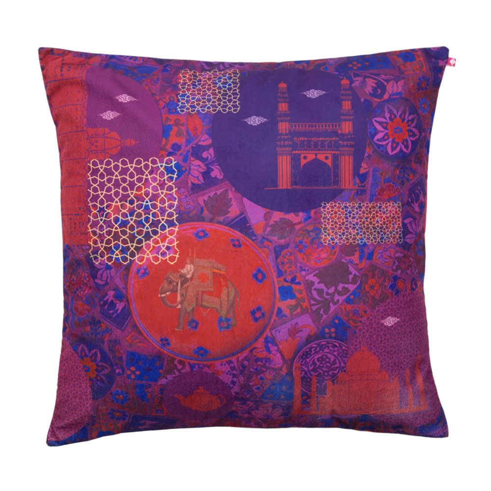 Violet Fusion Poly Velvet Floor Cushion Cover