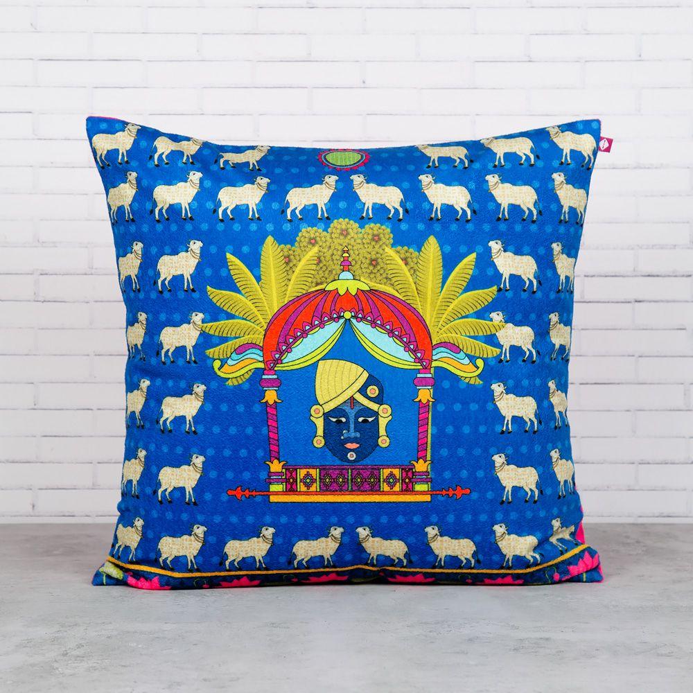 Virgin Heiffers Blended Velvet Cushion Cover