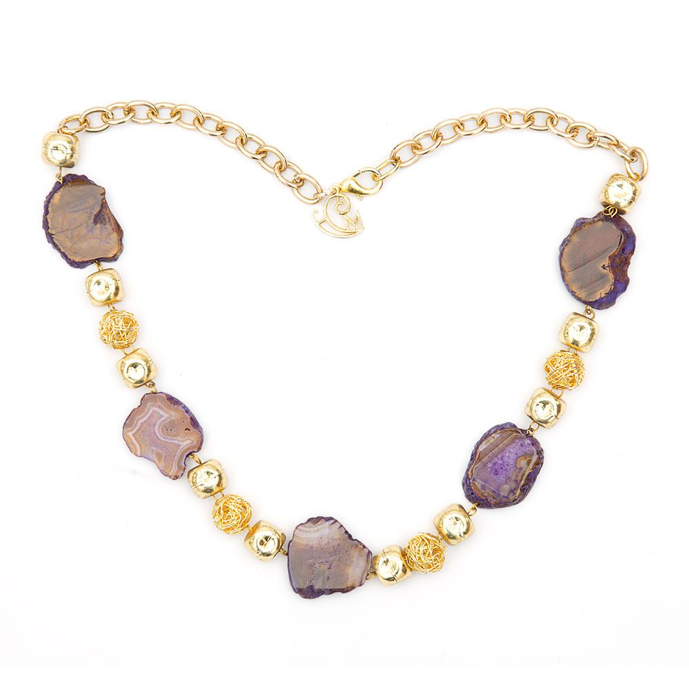 Vividly Violet  Necklace