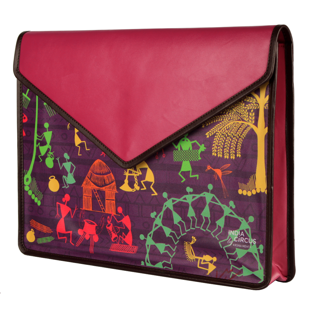 Warli Village Document Holder