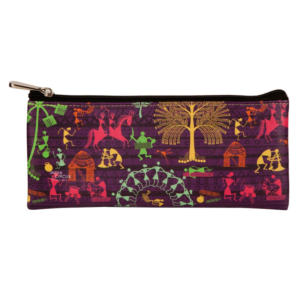 Warli Village Small Utility Pouch