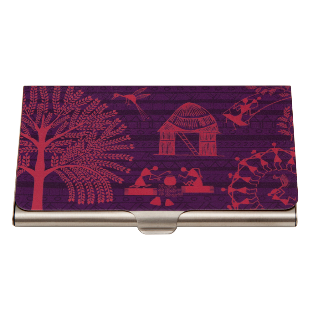 Warli Village Visiting Card Holder