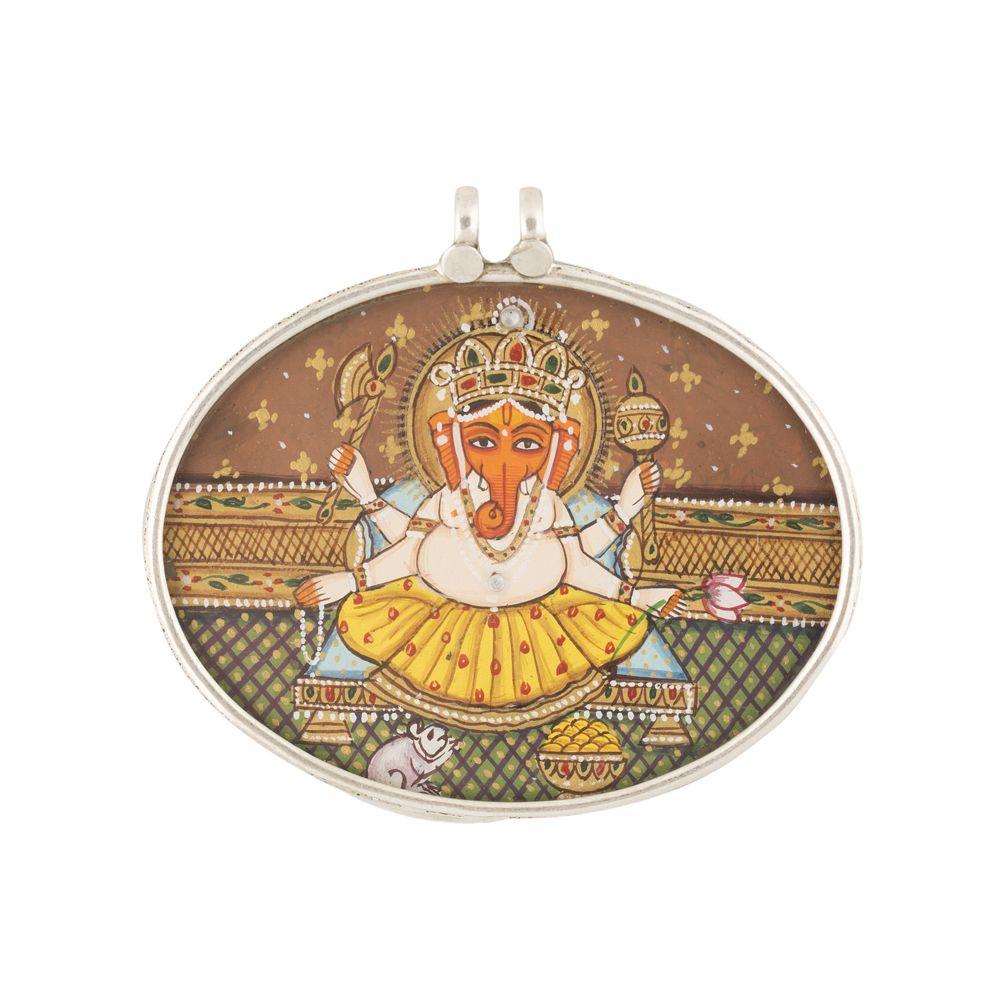 Lord Ganesha Oval Pendant