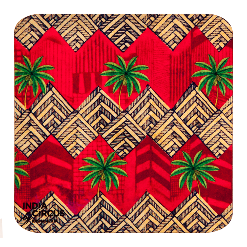 Zig-Zag MDF Coasters - (Set Of 6)