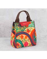 India Circus Floral Embroidery Lunch Bag