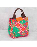 India Circus Lattice Vermillion Lunch Bag
