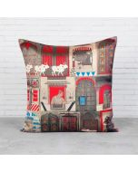 Doors Of Mystical Wonder Blended Taf Silk Cushion Cover