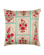 Floral Union Poly Taf-Silk Cushion Cover