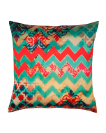 Colorful Streamer Poly Taf-Silk Cushion Cover