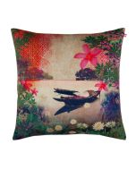 River Boat Poly Velvet Cushion Cover