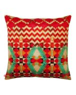 Tribal Emerald Poly Velvet Cushion Cover