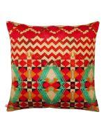 Tribal Emerald Poly Velvet Cushion Cover