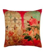 Pink Rose Poly Velvet Cushion Cover
