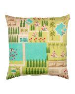 Maze Garden Poly Taf Silk Cushion Cover