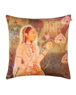 Maharani and Lotus Poly Velvet Cushion Cover