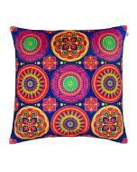 Circular Chaos Poly Velvet Cushion Cover