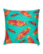 Funky Plume Poly Taf Silk Cushion Cover
