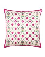 Floral Lattice Poly Taf Silk Cushion Cover