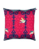 Flight of Birds Poly Taf Silk Cushion Cover