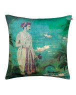 Mighty Maharaja Poly Velvet Cushion Cover