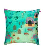 Desi  Wonderland Poly Taf Silk Cushion Cover