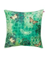 Butterfly Kisses on Blooming Boughs Poly Taf Silk Cushion Cover