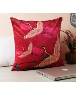 Lattice Practice Marsala Red Cotton Cushion Cover