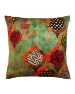 Diamond Leaf Poly Velvet Cushion Cover